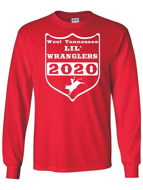 Lil' Wranglers long sleeve design 3 red