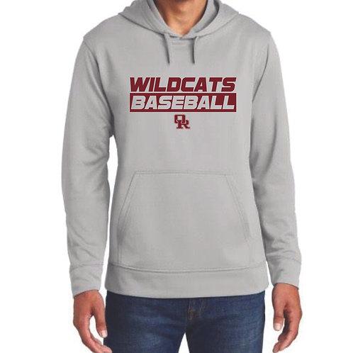 Lightweight athletic hoodie silver - Wildcat design