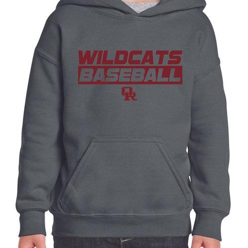Charcoal pullover hoodie - Wildcat design