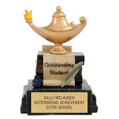 Outstanding Student Colorful Trophy