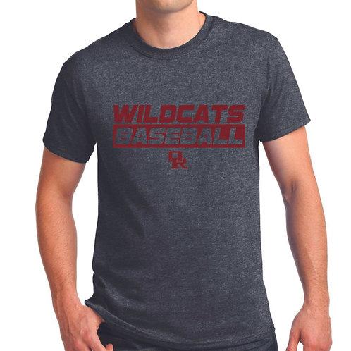 Dark heather T-shirt - Wildcat design