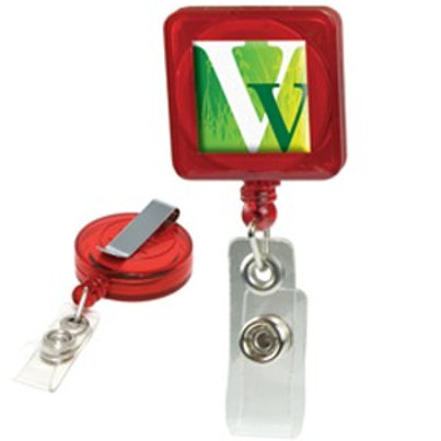 Retractable Domed Badge Holder - Square - Box of 250