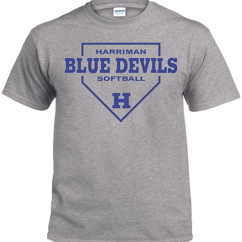Harriman softball t-shirt  (design 1 ) - gray