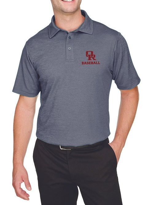 Performance polo - gray (left chest Oak Ridge Baseball logo)