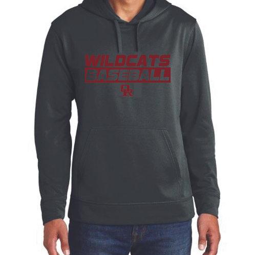 Lightweight athletic black hoodie - Wildcat design