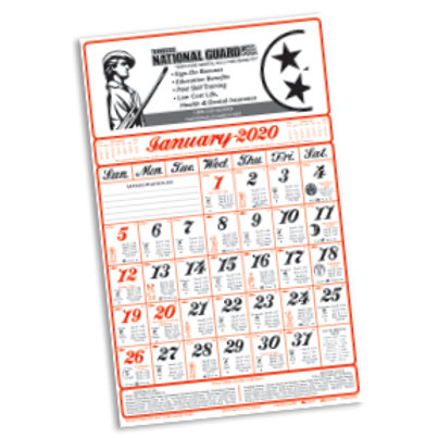 Almanac Calendar - Box of 100