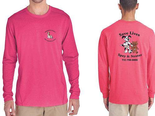 Pink long sleeve Henderson Co. Spay/Neuter Alliance