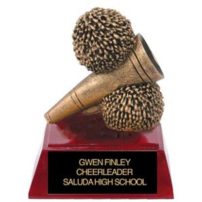 Sculpted Cheerleader Trophy