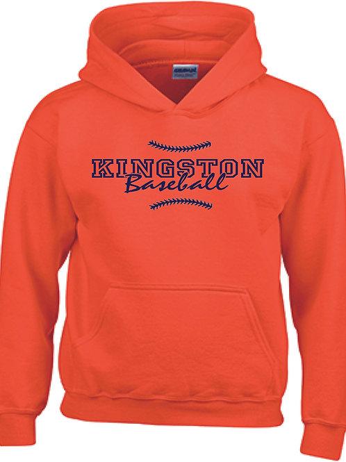 Kingston Baseball Hoodie design 1 orange