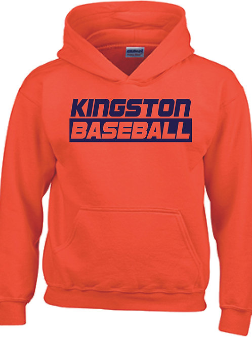 Kingston Baseball Hoodie design 3 orange