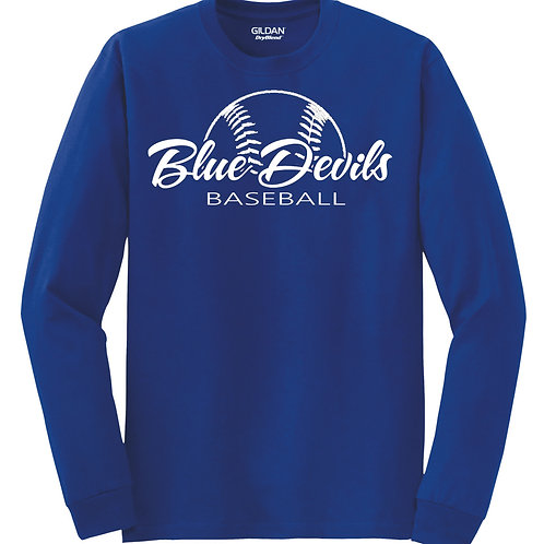 Harriman baseball long sleeve  (design 2 ) -blue