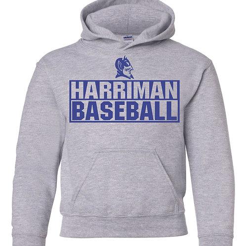 Harriman baseball hoodie  (design 3 ) - gray