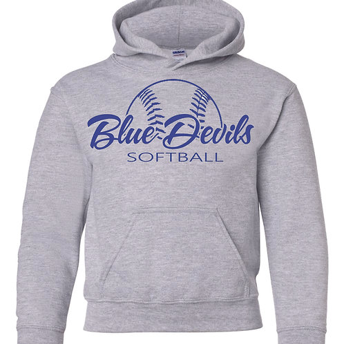Harriman softball hoodie  (design 2 ) - gray