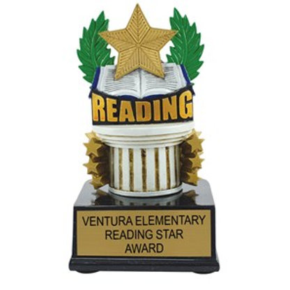 Reading Scholastic Color Trophy