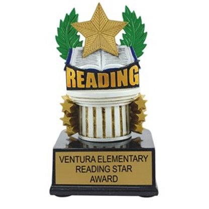 Reading Scholastic Color Trophy