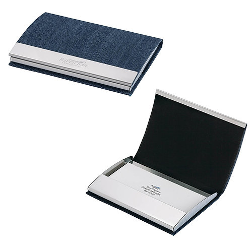 Utah - Denim Business Card Case - Box of 100