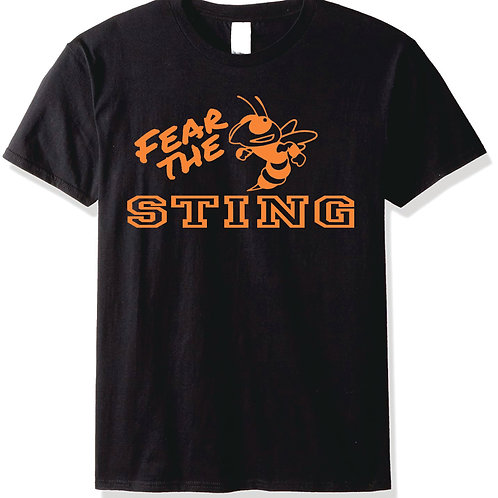 Gildan T-shirt (design 4) Available in black, or orange