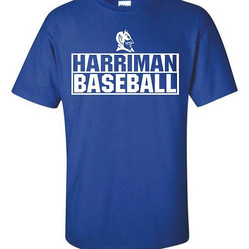 Harriman Baseball t-shirt  (design 3 ) - blue