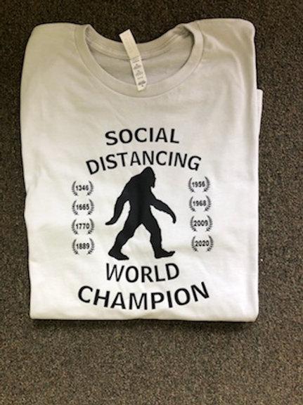 Social Distancing World Champion t-shirt
