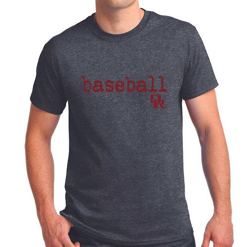 Dark heather T-shirt - Qwerty design