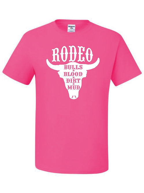 Lil' Wranglers Design 1 hot pink t-shirt