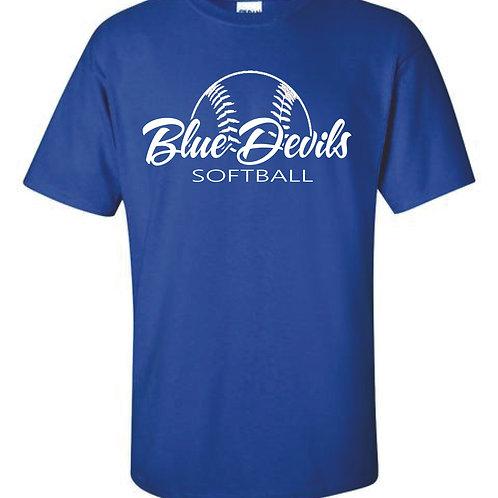 Harriman softball t-shirt  (design 2 ) - blue