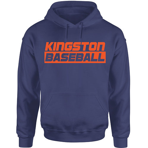Kingston Baseball Hoodie design 3 Navy