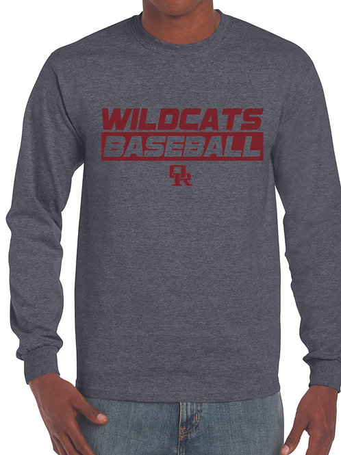 Long sleeve dark heather t-shirt - Wildcat design