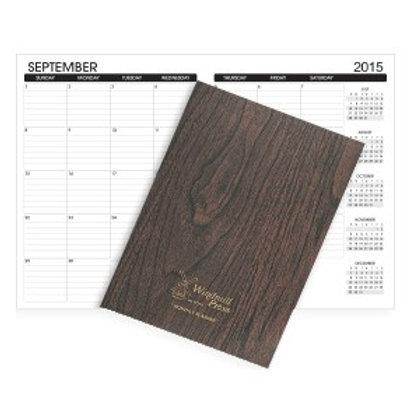 Woodgrain Date-Rite Planners - Box of 50