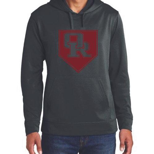 Lightweight athletic black hoodie - Diamond design