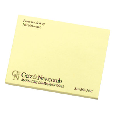 3M Post-it Note Pad 50 sheets 1-color Color match- Box of 500