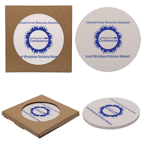 Round Absorbent Stone Coaster - Box of