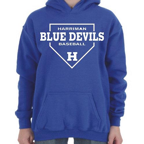 Harriman baseball hoodie (design 1) blue
