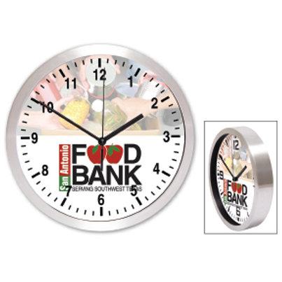 "10"" Brushed Metal Wall Clock- Box of 30"