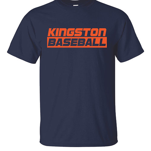 Kingston Baseball t-shirt design 3 Navy
