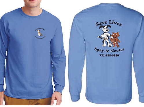 Columbia blue long sleeve Henderson Co. Spay/Neuter Alliance