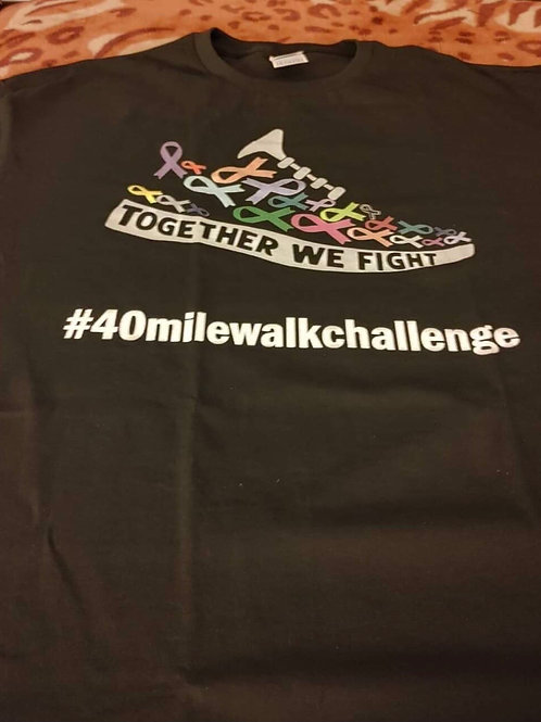 Sport gray 40 Mile Walk Challenge t-shirt