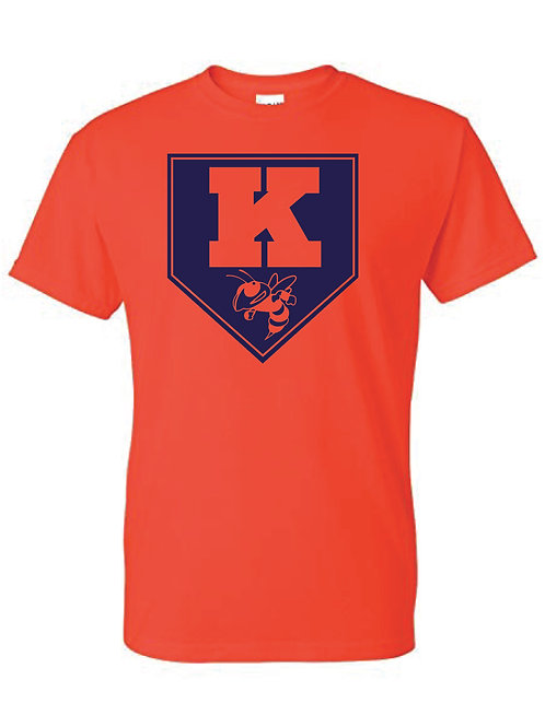 Kingston Baseball t-shirt design 2 orange
