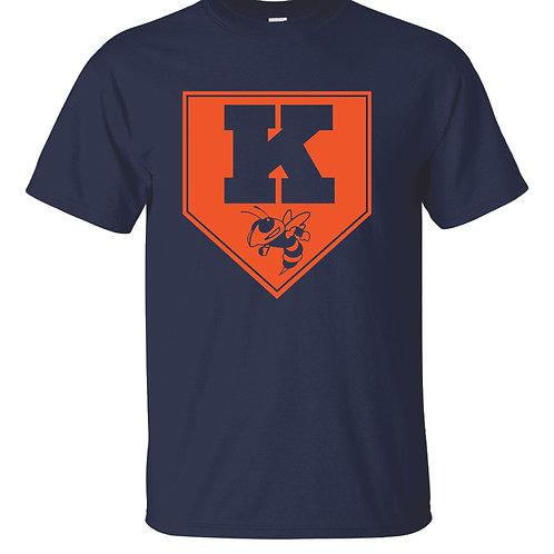 Kingston Baseball t-shirt design 2 Navy
