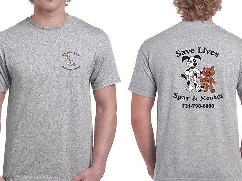 Sport gray t-shirt Henderson Co. Spay/Neuter Alliance