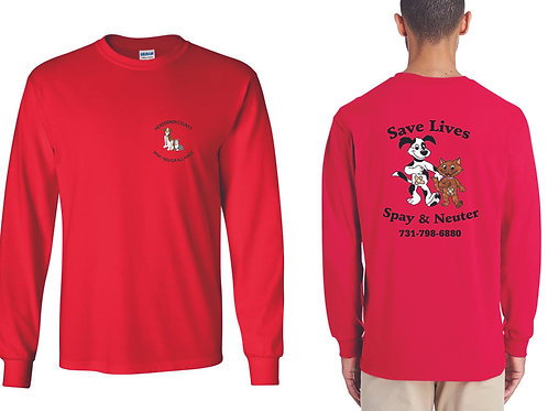 Red long sleeve Henderson Co. Spay/Neuter Alliance