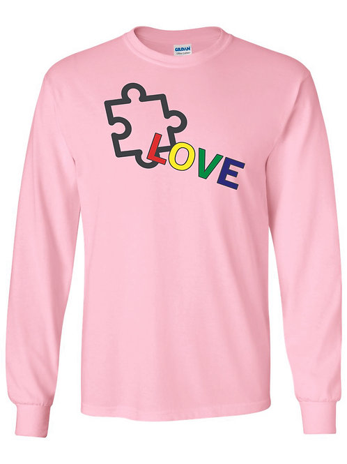 Autism awareness Long sleeve t-shirt (available in 7 colors)
