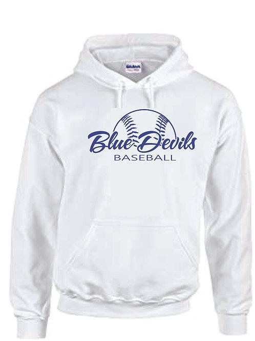 Harriman baseball hoodie  (design 2 ) - white