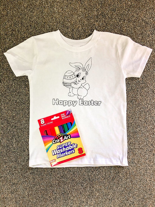 EASTER Customized T-shirt coloring kit (Shirt & Markers)