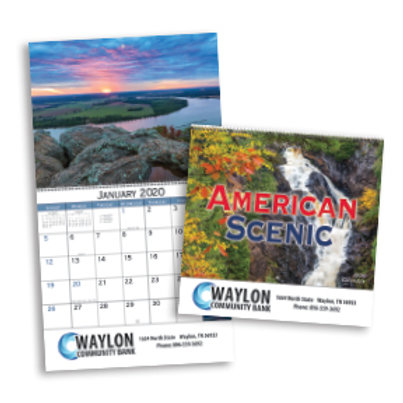 American Scenic Wall Calendar - Box of 100