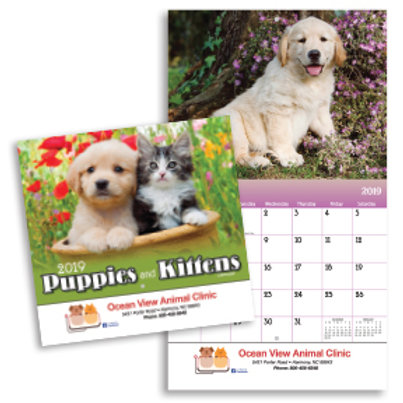 Puppies & Kittens Wall Calendar - Early - Box of 100