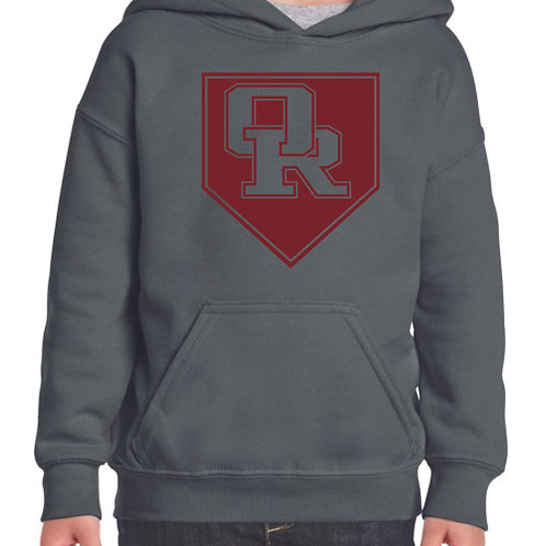 Charcoal pullover hoodie - Diamond design