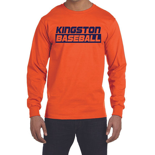 Kingston Baseball long sleeve design 3 orange