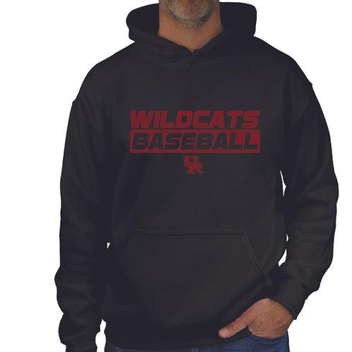 Black pullover hoodie - Wildcat design