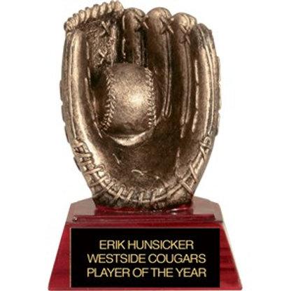 Sculpted Baseball Trophy